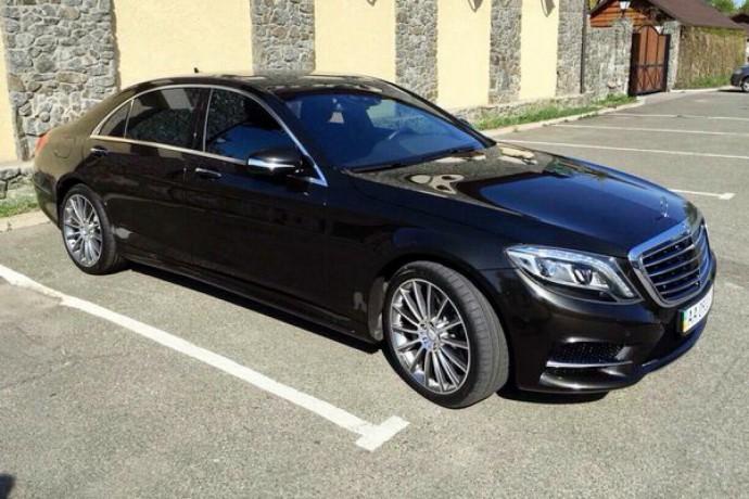 085 Mercedes W222 S500l Amg черный аренда с водителем - Київ 1