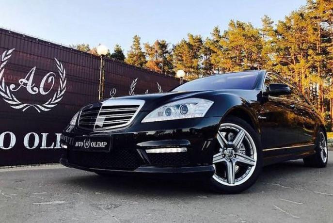 090 Mercedes W221 S65l Amg черный аренда с водителем - Київ 1