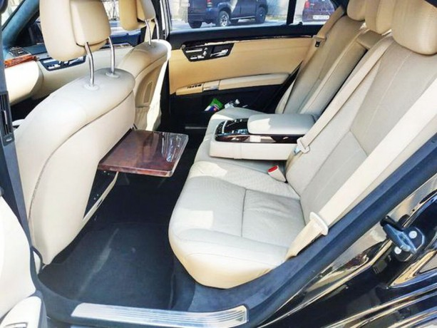 091 Mercedes-benz W221 S500 Black аренда с водителем - Київ 4