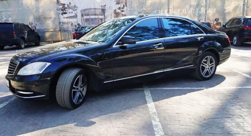 091 Mercedes-benz W221 S500 Black аренда с водителем - Київ 1