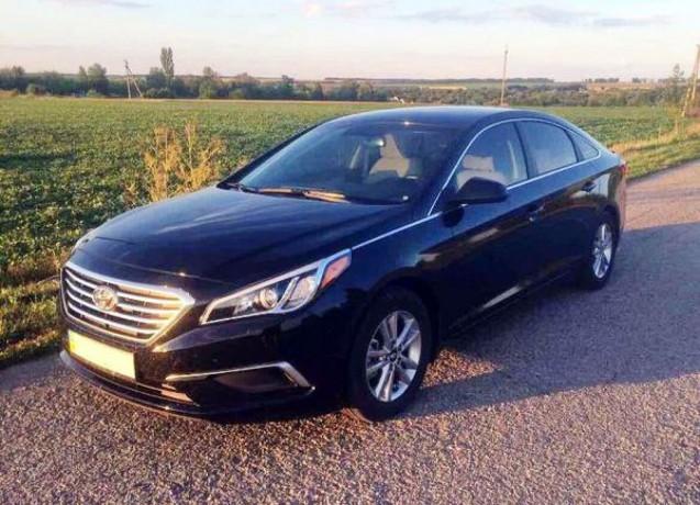 172 Hyundai Sonata черная аренда с водителем - Київ 1