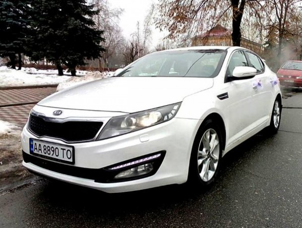 228 Kia Optima белый аренда с водителем аренда с водителем - Київ 1