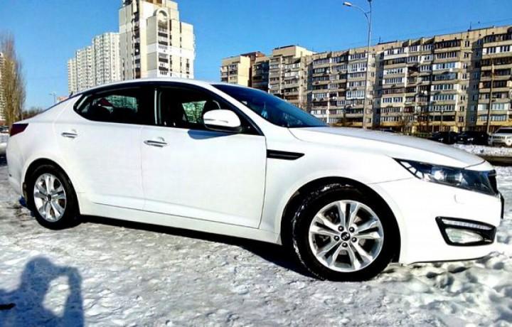 228 Kia Optima белый аренда с водителем аренда с водителем - Київ 0