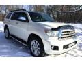 238 внедорожник Toyota Sequoia белая аренда с водителем - Київ 0