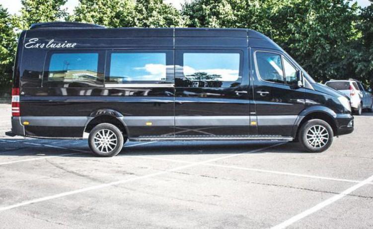 181 микроавтобус Mercedes Sprinter черный Vip класса аренда с водителем - Київ 7