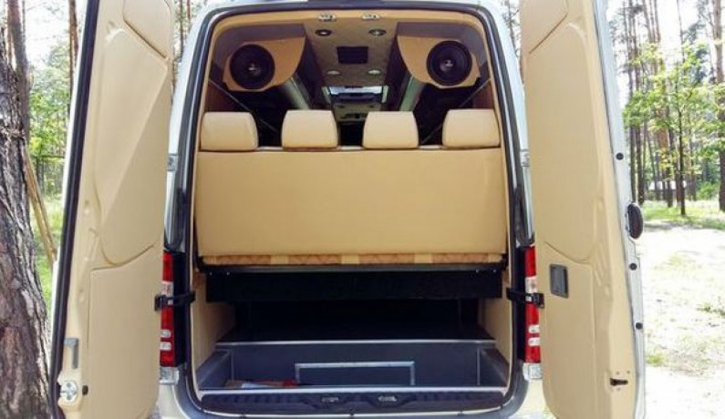 304 микроавтобус Mercedes Sprinter Vip серебро прокат с водителем - Київ 6