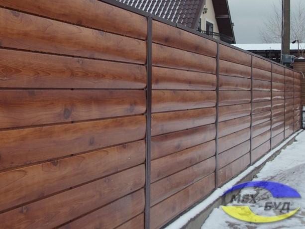 """Забор горизонтальный Брус, забор с текстурой """"под дерево"""" - Київ 2"""