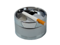 Пепельница малая металлическая серебристая 9 см, опт - Київ 0