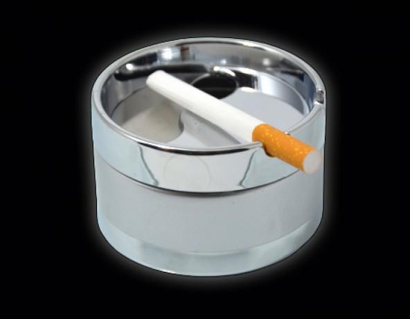 Пепельница малая металлическая серебристая 9 см, опт - Київ 1