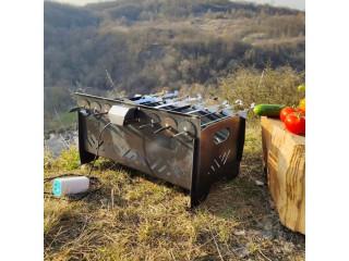 Мангал автоматичний, лінивий шашличник, з мотором - Київ