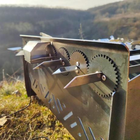 Мангал автоматичний, лінивий шашличник, з мотором - Київ 1