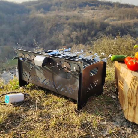 Мангал автоматичний, лінивий шашличник, з мотором - Київ 0