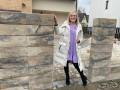 Паркан з блоків в стилі Лофт, з секціями Ранчо - Сокаль 7
