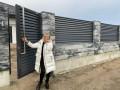 Паркан з блоків в стилі Лофт, з секціями Ранчо - Сокаль 6