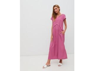 Платье из облегченного льна Season в стиле розового цвета - Киев