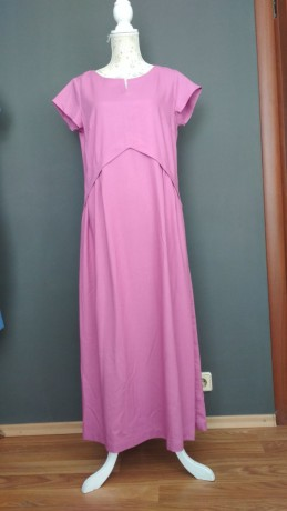 Платье из облегченного льна Season в стиле розового цвета - Київ 3