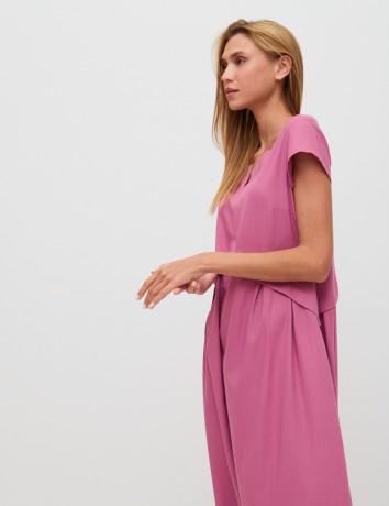 Платье из облегченного льна Season в стиле розового цвета - Київ 4