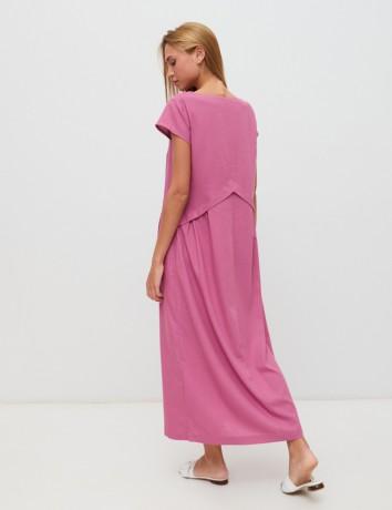 Платье из облегченного льна Season в стиле розового цвета - Київ 7