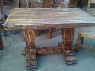 Стол обеденный деревянный СОСТАРЕННЫЙ для дома, кафе, бара - Днепр