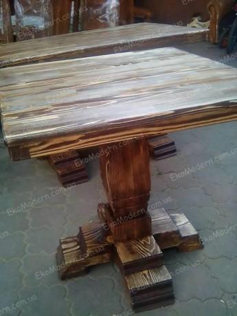 Стол обеденный деревянный СОСТАРЕННЫЙ для дома, кафе, бара - Дніпро 4