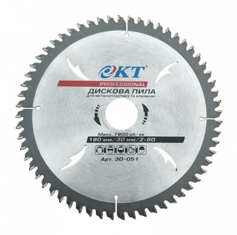 Пильный диск KT Professional 190х60Тх30 для резки металлопластика и алюминия (30 - Київ 0