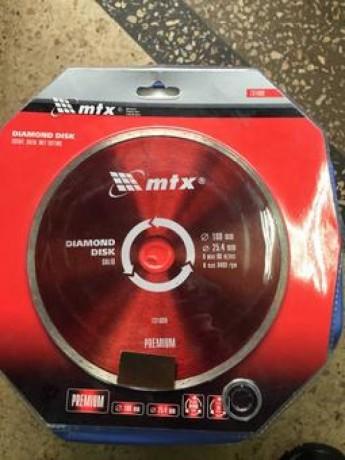 Диск алмазный отрезной сплошной, 200 х 25,4 мм, влажная резка MTX Professional - Київ 0