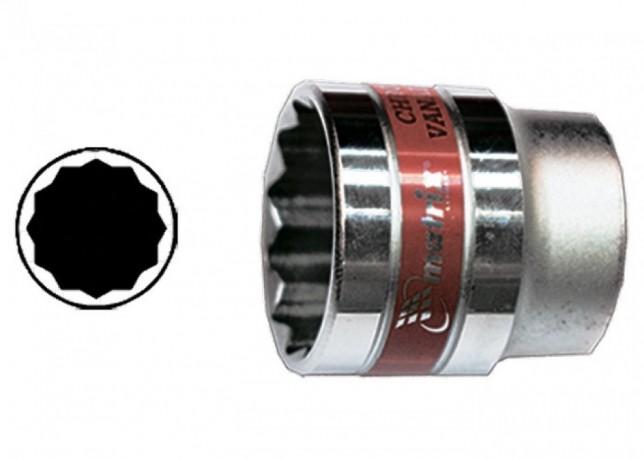 Головка торцевая Matrix Master 32 мм двенадцатигранная CrV под квадрат - Київ 0