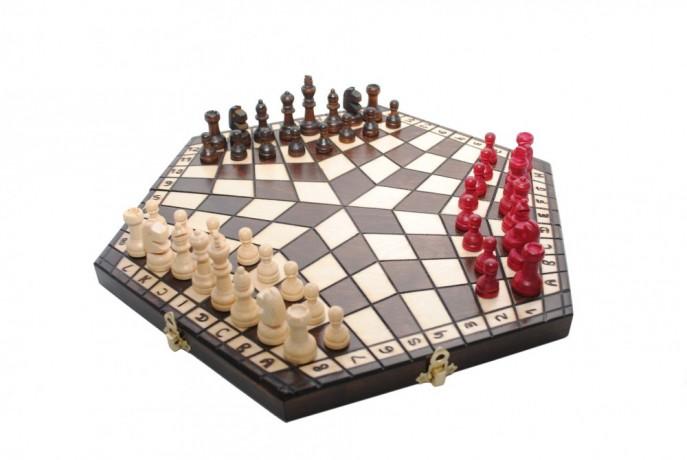 Польские шахматы на троих купить оптом Киев Украина доставка недорого - Київ 1