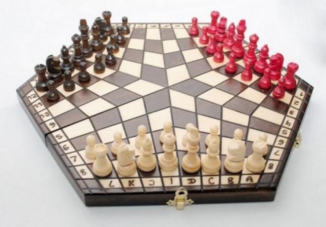 Польские шахматы на троих купить оптом Киев Украина доставка недорого - Київ 3