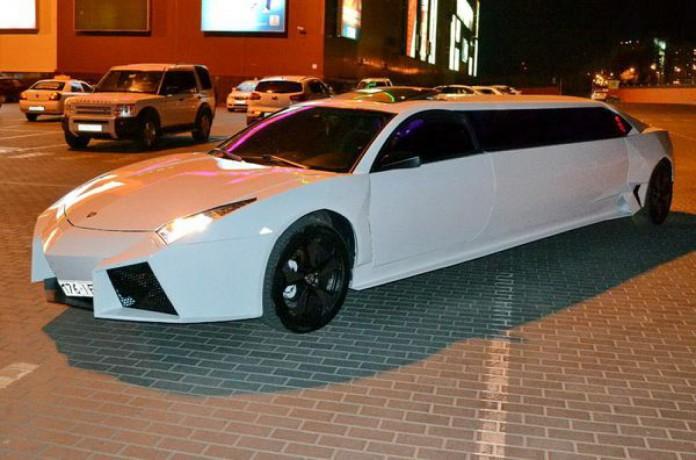 003 Лимузин Lamborghini Reventon белая - Київ 2
