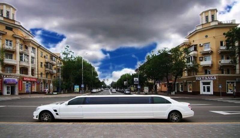 030 Лимузин Mercedes W221 S600 белый - Київ 2